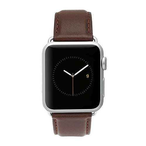 CASE-MATE SIGNATURE LEATHER WATCHBAND (BROWN)
