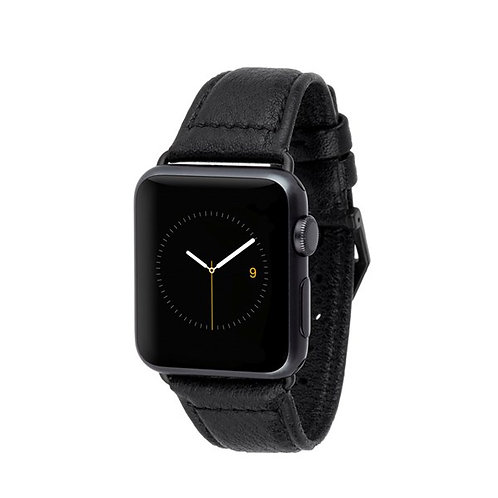 CASE-MATE PEBBLED LEATHER WATCHBAND (BLACK)