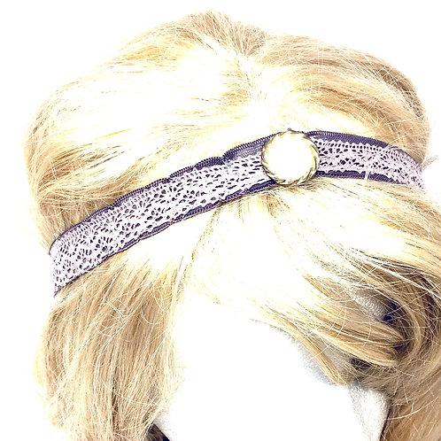 Rose Button elastic tiara