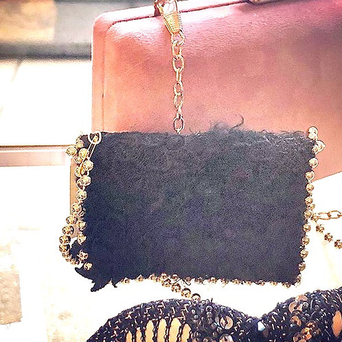 UPCYCLED, furry wallet. One of a kind.