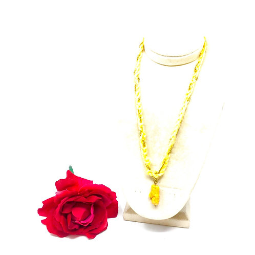 Long Charm, yellow necklace