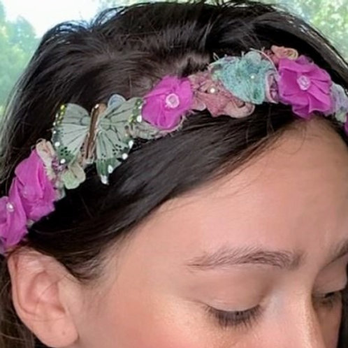 Butterfly Flower tiara