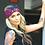 Thumbnail: Wide Lace, Burgundy Turban Headband