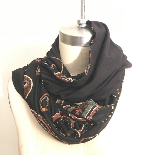 Paisley Velvet scarf
