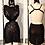 Thumbnail: Black Galaxy mesh w. crystals dress