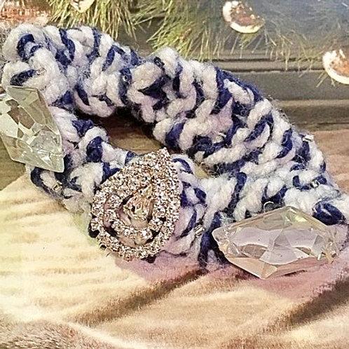 Yankees Crystal scrunchie