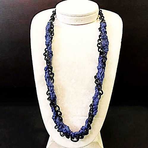 Twisted Metal bamboo necklace