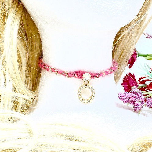 Hot Pink knit chain.