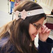 Rose Knit bow headband