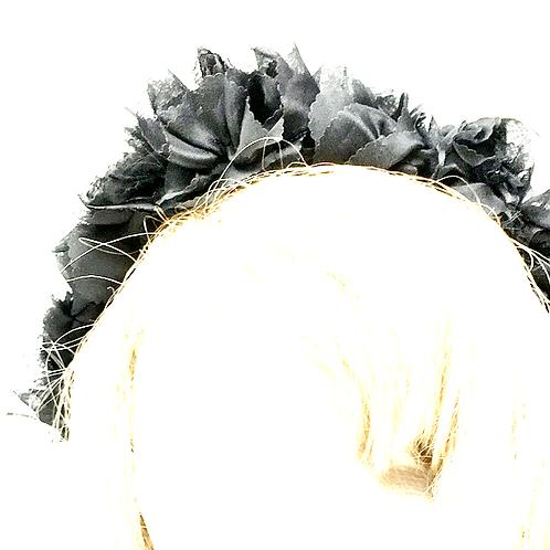 Black Rose corsage flower crown