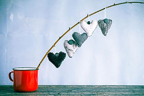 5 Hanging Heart Ornaments