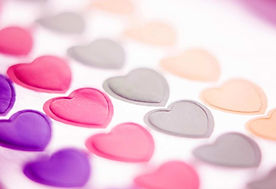 Multiple Colored Hearts