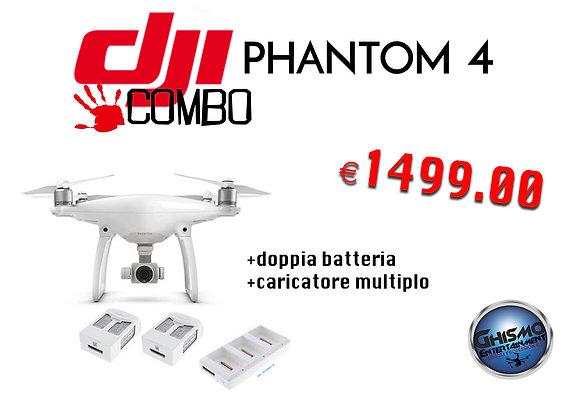 DJI Phantom 4 + 2 Batterie Extra + Charger Multi