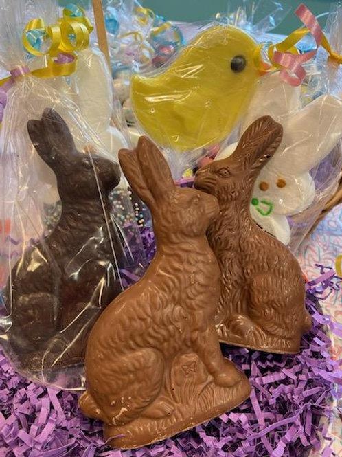Solid chocolate bunnies