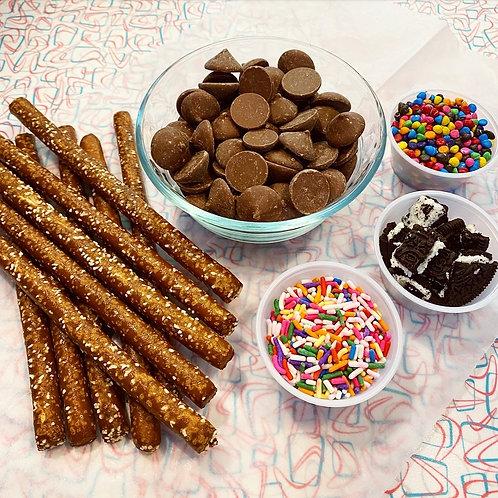 Chocolate dipped pretzel kit!
