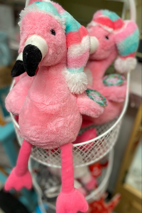 Christmas flamingos