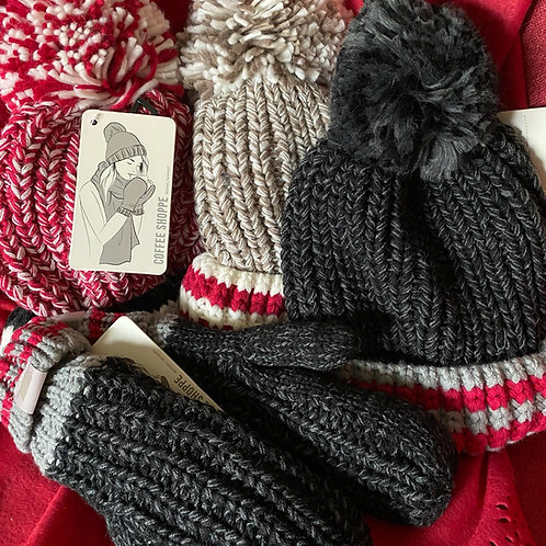 Lined mittens & hat