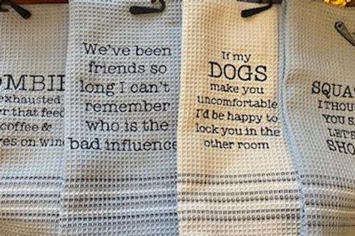 Dish towel humor