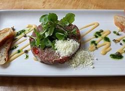 Beef tartare steak