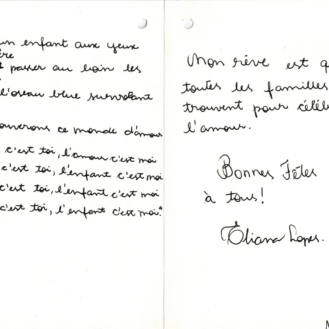 Carte d'Eliana.