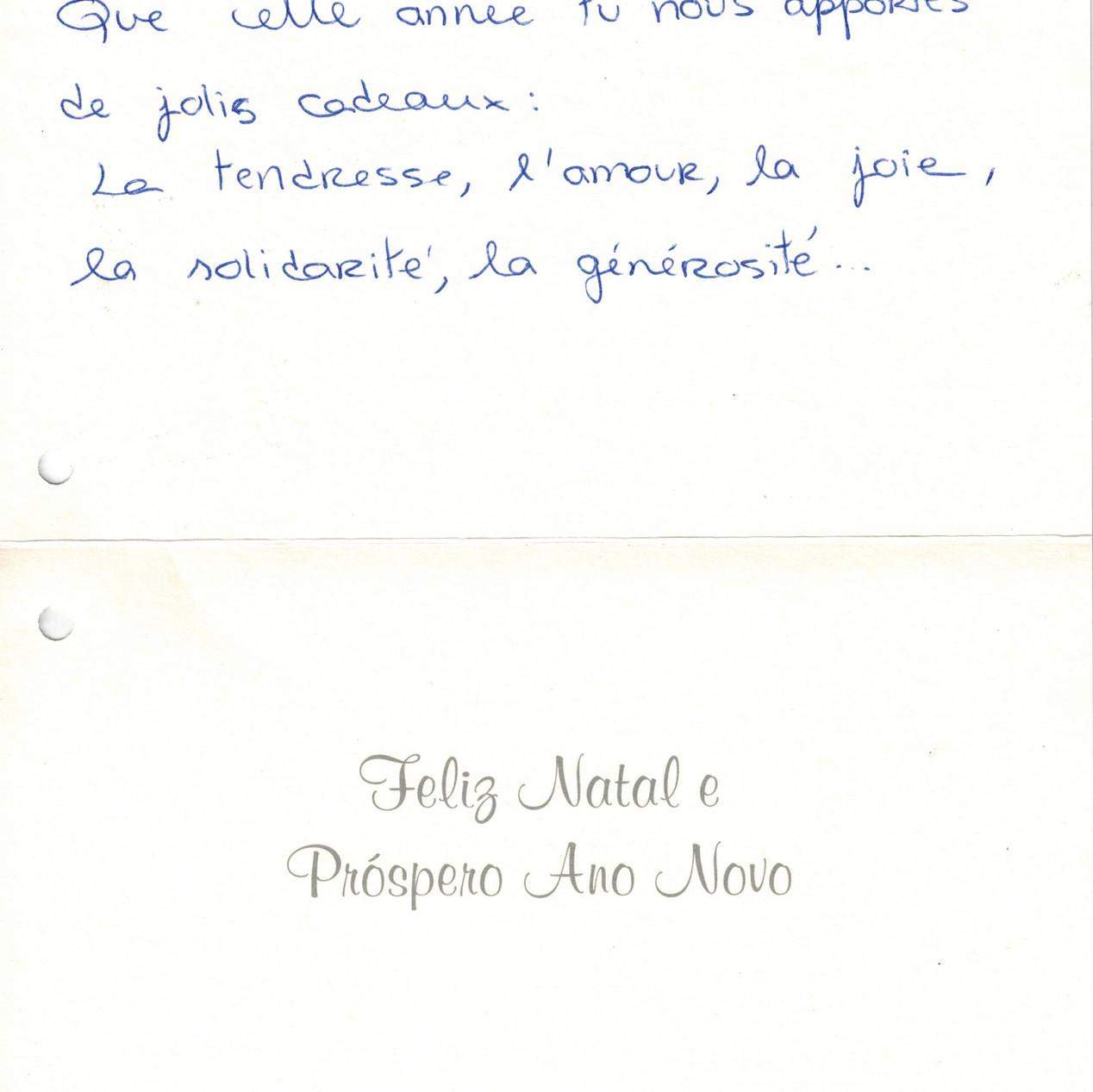 Carte de Susana.