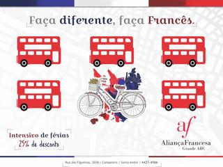 Curso intensivo de francês: um módulo em apenas um mês (janeiro) - matrículas abertas
