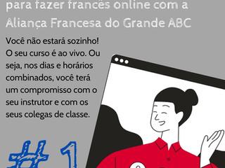 Dez bons motivos para fazer francês online com a Aliança Francesa do Grande ABC