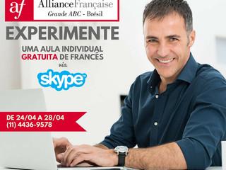 Agende uma aula particular de francês gratuita via Skype pela Aliança Francesa do Grande ABC