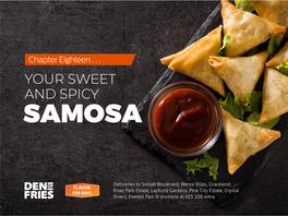 Den of Fries Social Media Post showcasing Samosas