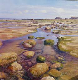 Saltwick Bay,oil,60cm x 60cm