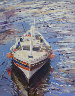 Fishing Boat,oil,25cm x 30cm.JPG