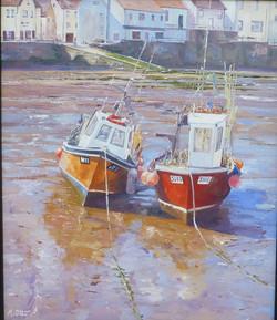 Staithes Boats,oil,30cm x 40cm.JPG