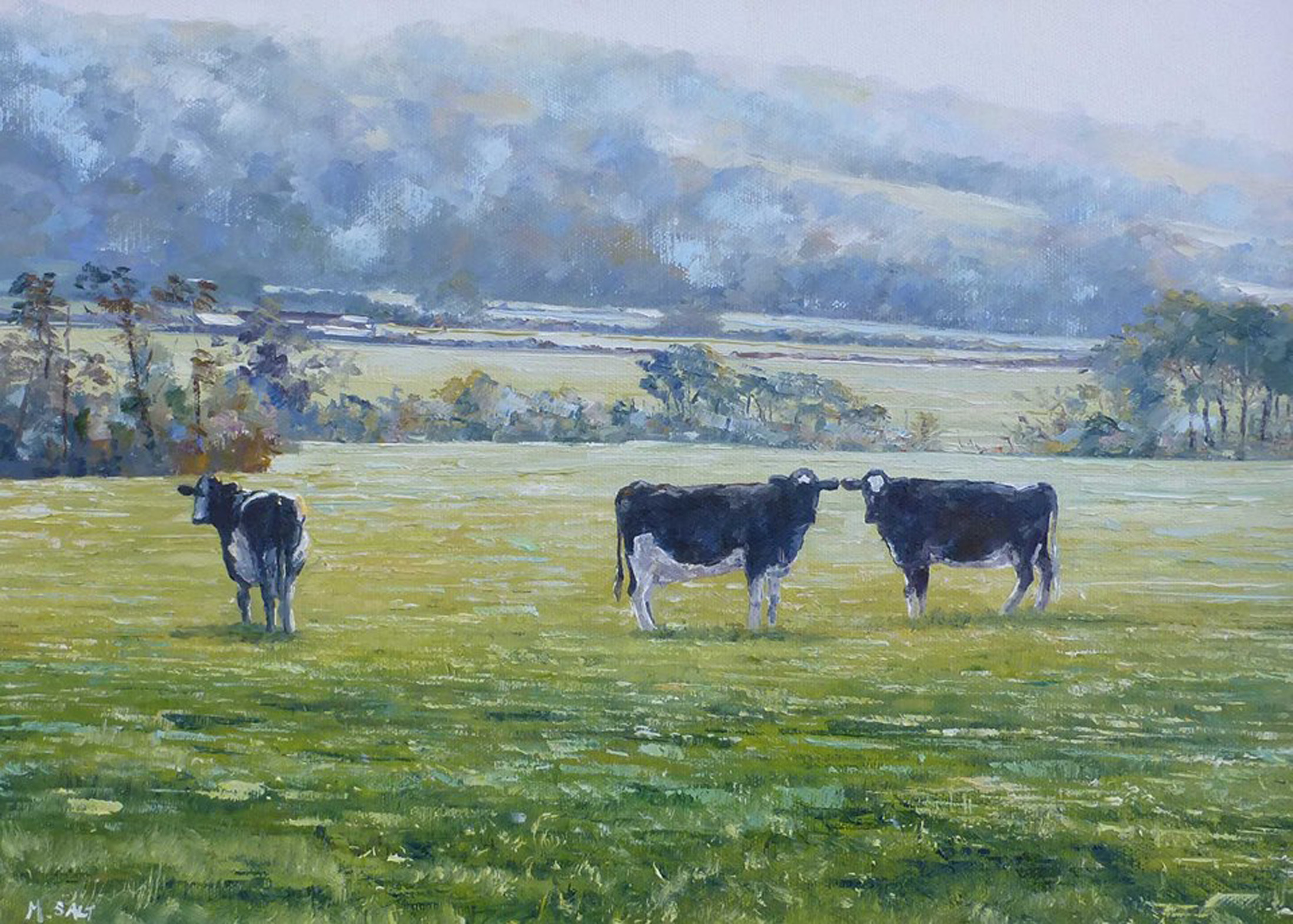 Morning Graze Danby,oil,40cm x 30cm.jpg