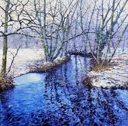 Winter Beck,oil,60cm x 60cm