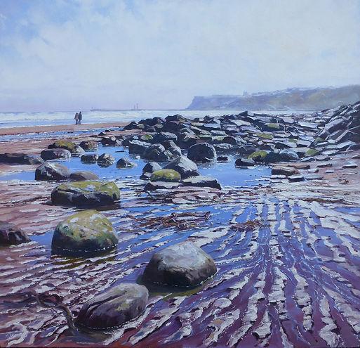 On The Beach,Whitby,oil,60cm x 60cm.JPG