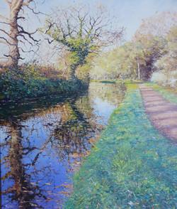 Towards the Hyde,Kinver,oil,60cm x 50cm.