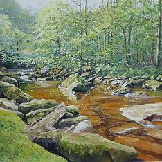 Spring Beck,oil,60cm x 60cm.JPG