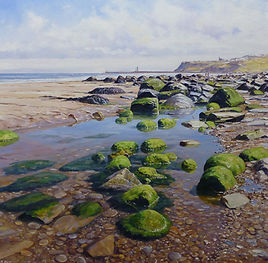 Whitby Low Tide,oil,60cm x 60cm.JPG