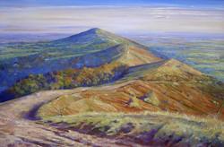 Malvern Hills ,oil,90cm x 60cm.