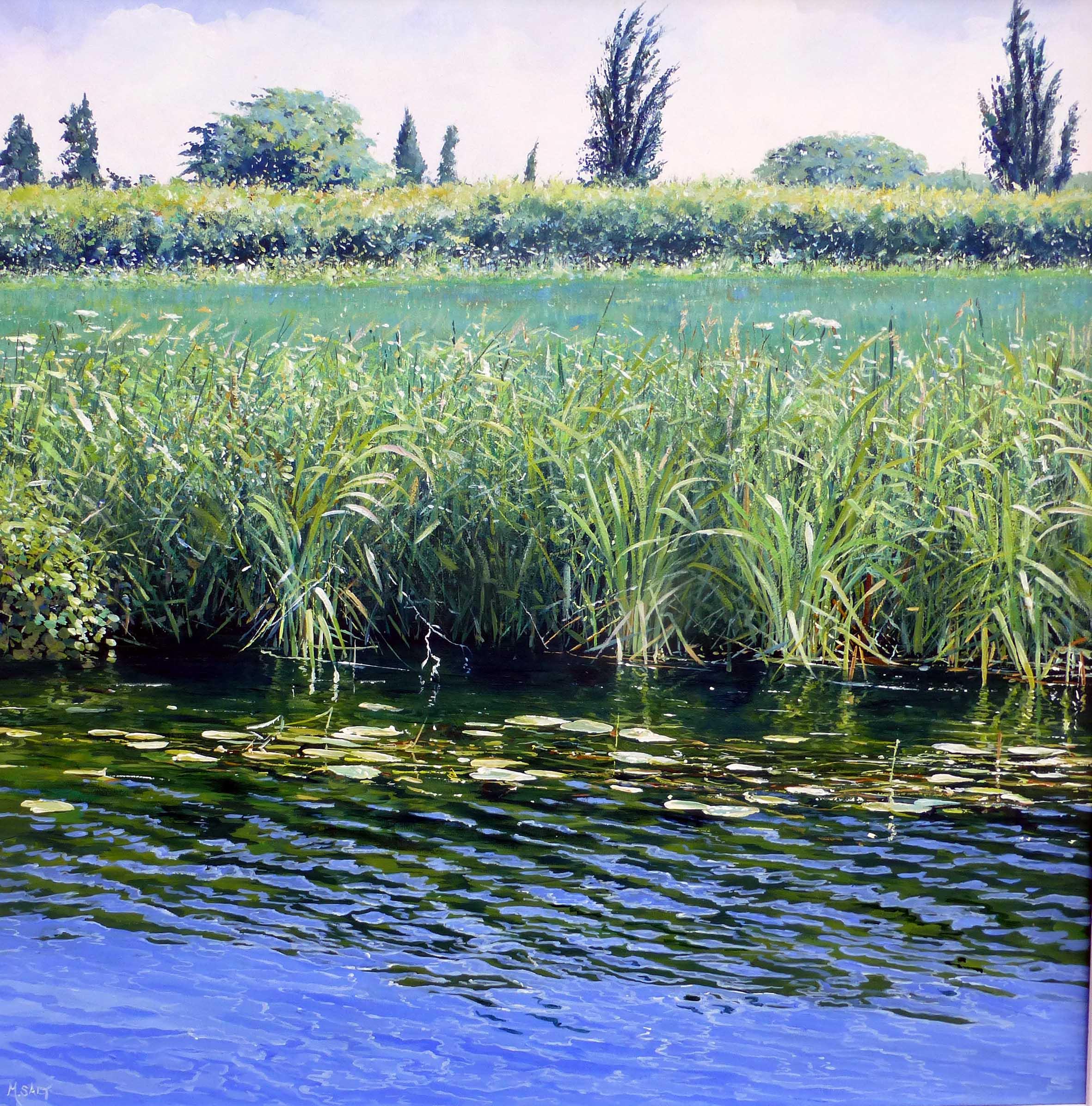 Reedy Waters,acrylic,60cm x 60cm.JPG