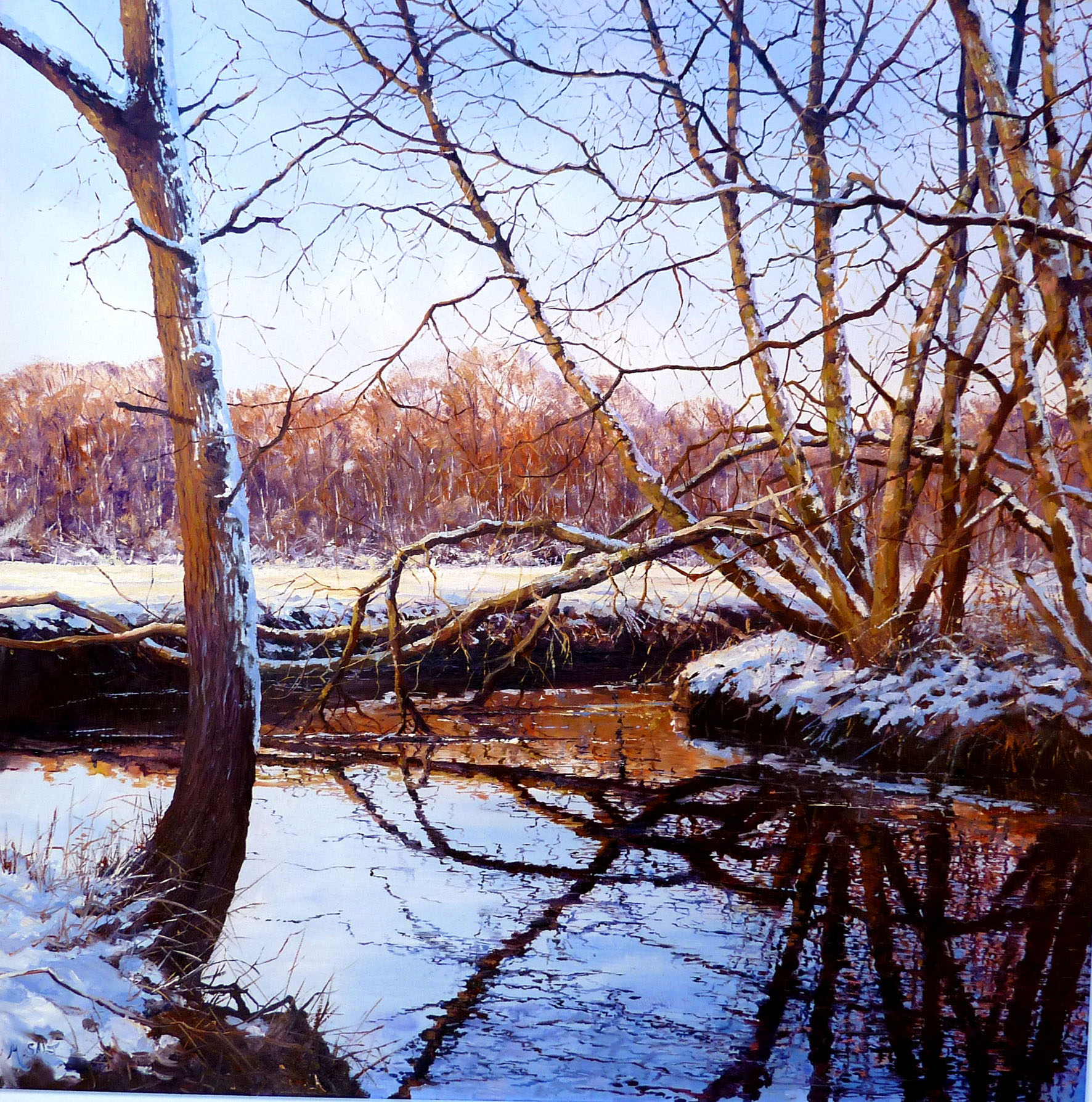 Winterlight oil  60cm x 60cm