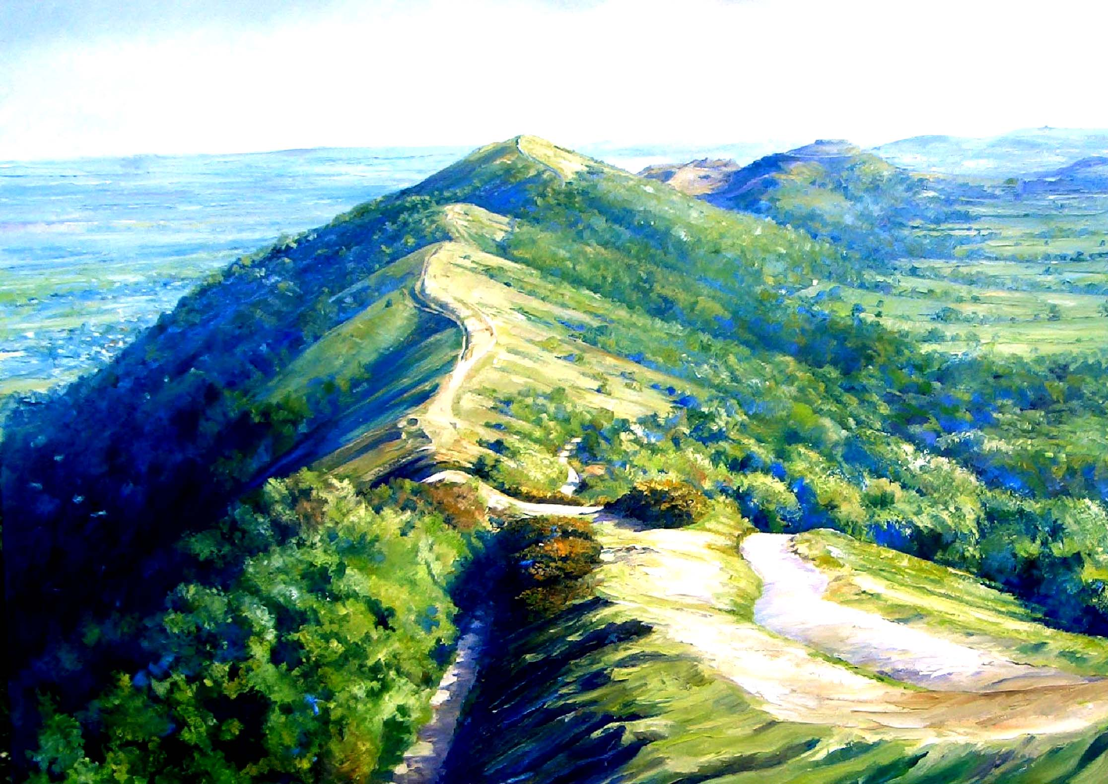 Malverns looking South ,oil,90cm x 60cm.