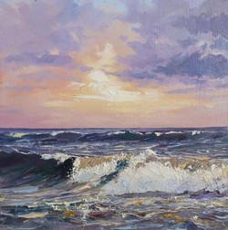 Coastal Sunrise,oil,30cm x 30cm.JPG