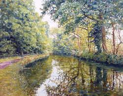 Stourbridge Canal,oil,60cm x 50cm.
