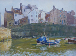,Afternoon Light,Staithes,oil,50cm x 40c