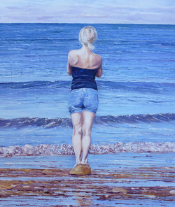 Looking Out To Sea,oil,25cm x30cm.JPG