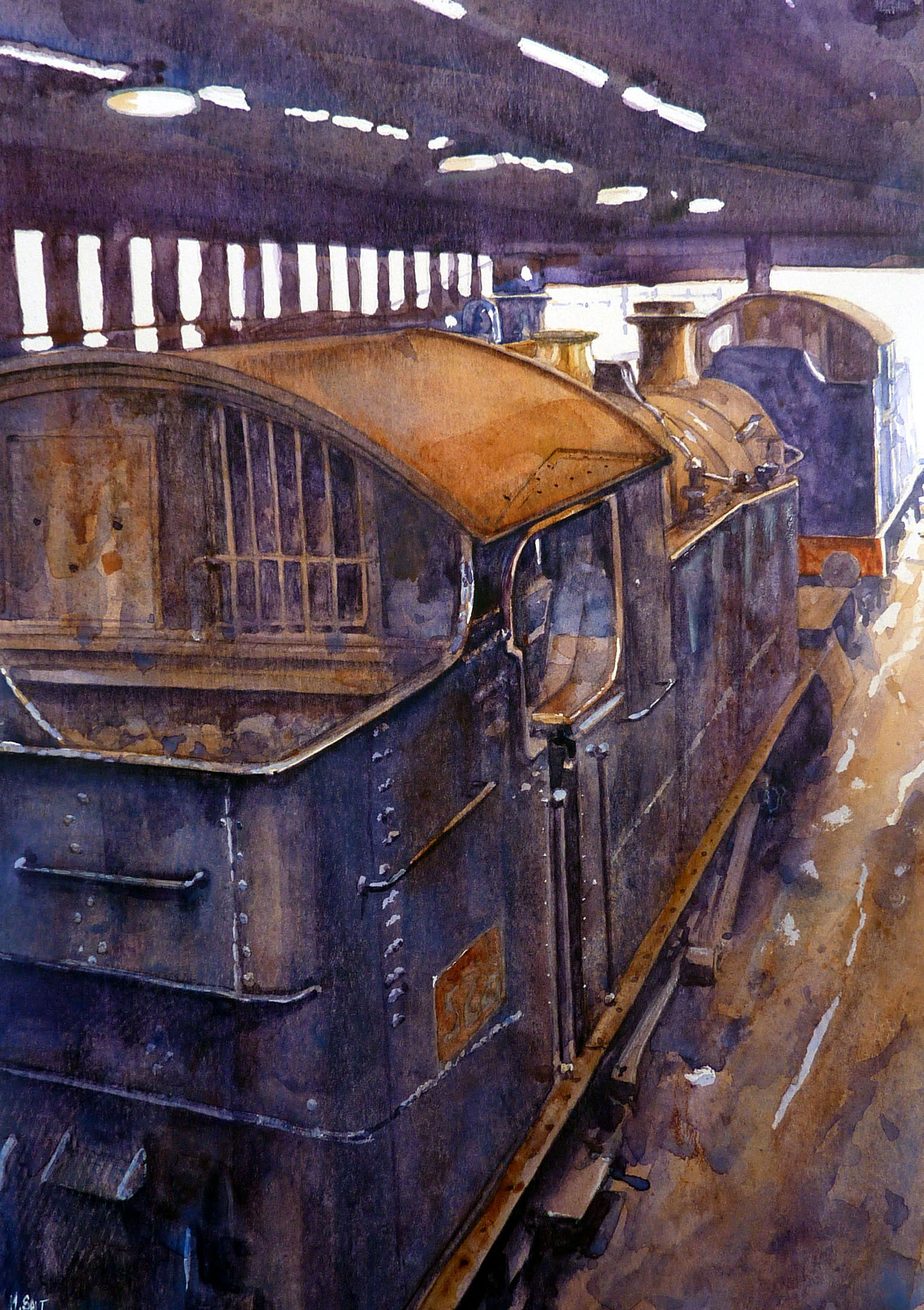 In for service,watercolour,30cm x 25cm.