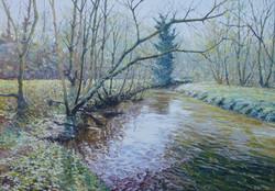 River Stour, Prestwood,oil,76cm x 60cm.J
