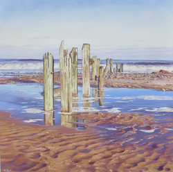 Incoming Tide,oil,60cm x 60cm