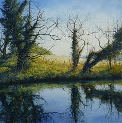 Waterside,oil,60cm x 60cm